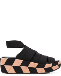 Salvatore Ferragamo Grosgrain Wedge Sandals