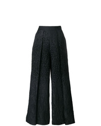 Talbot Runhof Pebbled Wide Leg Trousers
