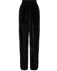 Vetements Velour Dropped Crotch Wide Leg Trousers