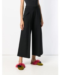 Pierantoniogaspari Wide Leg Cropped Trousers