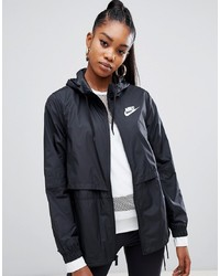 Nike Black Small Logo Hooded Jacket