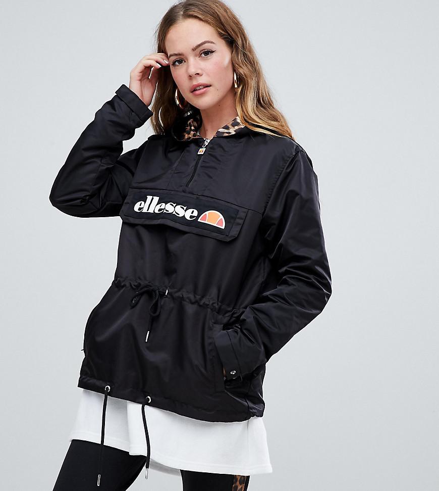 to buy distinctive design sleek Half Zip Jacket With Contrast Leopard Lining Leopard