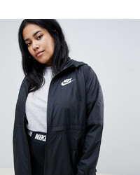 Nike Plus Black Small Logo Hooded Jacket