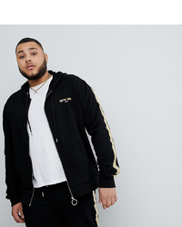 Sixth June Track Jacket In Black With Gold To Asos