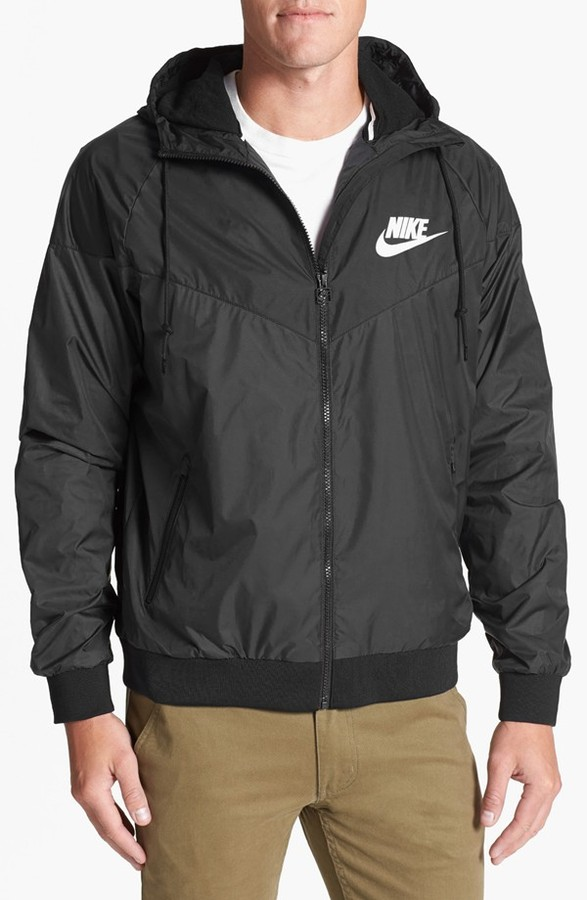d291b4164354 ... Black Windbreakers Nike Windrunner Hooded Jacket ...
