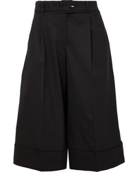 Simone Rocha Belted Feather Trimmed Wool Blend Shorts