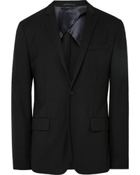 Acne Studios Black Jack Travel Slim Fit Wool Piqu Blazer