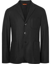 Black slaneg unstructured wool blend blazer medium 833777