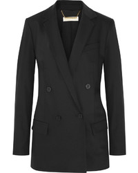 MICHAEL Michael Kors Michl Michl Kors Double Breasted Stretch Wool Blazer Black