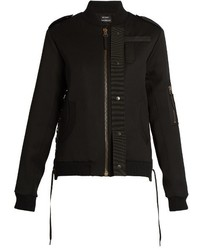 Anthony Vaccarello Lace Detail Wool Bomber Jacket
