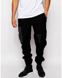 Brand slim joggers with cargo pockets in harris tweed medium 392851
