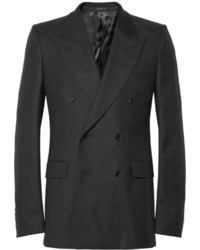 Alexander McQueen Slim Fit Wool Twill Double Breasted Blazer