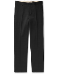 Alexander McQueen Black Slim Fit Wool Trousers