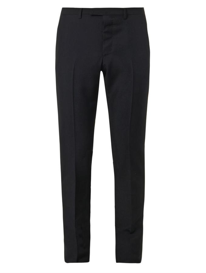 ... Gucci Slim Leg Wool And Mohair Blend Trousers ...