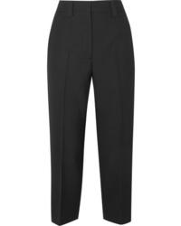 Acne Studios Trea Cropped Wool Straight Leg Pants