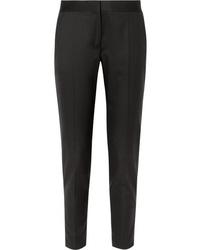 Stella McCartney Vivian Zip Detailed Wool Twill Straight Leg Pants