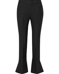 Black Wool Flare Pants