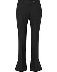 Black Wool Flare Pants
