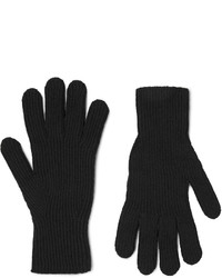 Margaret Howell Ribbed Merino Wool And Cashmere Blend Gloves