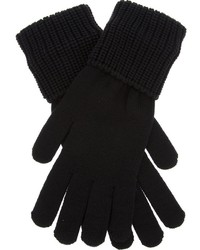 Givenchy Ribbed Trim Gloves