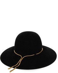 Lanvin Chain Embellished Rabbit And Hare Felt Hat