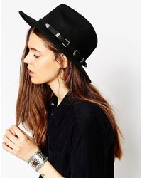 Asos Collection Felt Panama Hat With Western Double Buckle Trim New Improved Fit