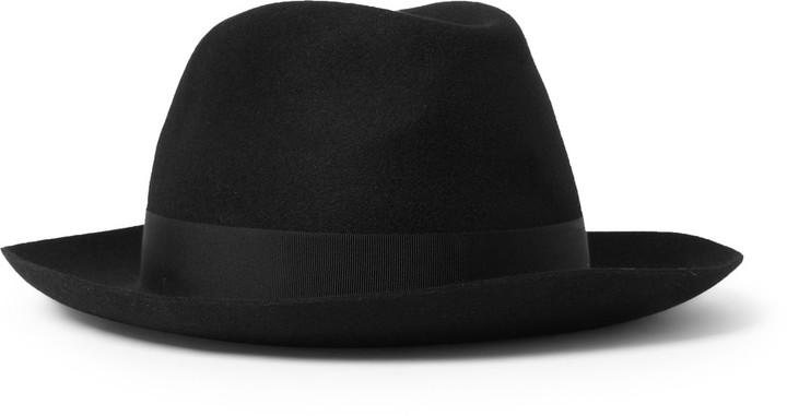 ... Black Wool Hats Borsalino Felt Fedora Hat ... 6ef793a8119