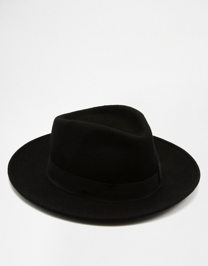 4ececc67fb37a9 Catarzi Pork Pie Wide Brim Hat, £51 | Asos | Lookastic UK