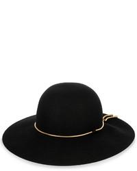 Lanvin Snake Chain Trimmed Rabbit Felt Hat