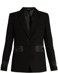 Single breasted exposed lining wool jacket medium 723947