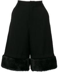 Comme des garons noir kei ninomiya faux fur trim shorts medium 5145536