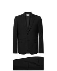 Saint Laurent Black Slim Fit Virgin Wool Gabardine Suit