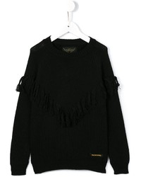 Finger In The Nose Fringed Ribbed Sweater