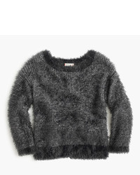 J.Crew Girls Fuzzy Wool Blend Popover Sweater