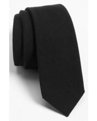 Solid wool blend skinny tie medium 225799