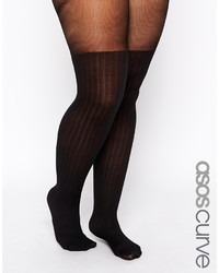 Asos Curve Rib Mock Over The Knee Tights