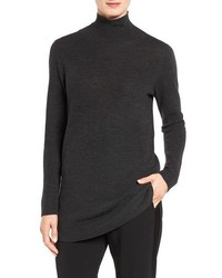 Fine rib merino turtleneck tunic medium 1088530
