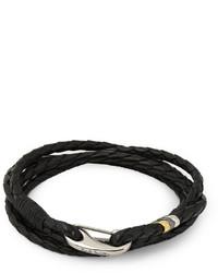 Paul Smith Shoes Accessories Woven Leather Wrap Bracelet
