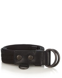 Black Woven Canvas Belt