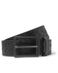 Bottega Veneta 35cm Black Intrecciato Leather Belt