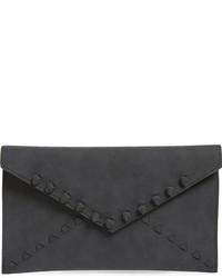 Tina faux leather envelope clutch black medium 801373