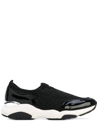 Salvatore Ferragamo Woven Sporty Sneakers