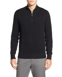 Brooks Brothers Cotton Cashmere Piqu Half Zip Sweater