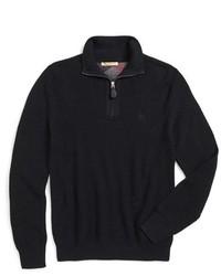 Burberry Brit Lapworth Trim Fit Cashmere Cotton Half Zip Sweater