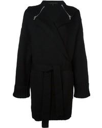 Zipped cape belted cardigan medium 747273