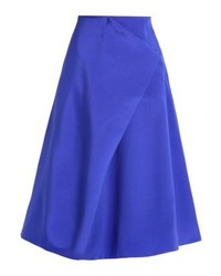 Finery Belshaw A Line Skirt Blue