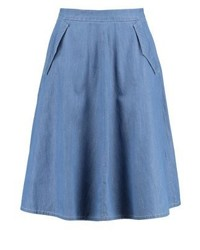 King Louie Delphi A Line Skirt Dutch Blue