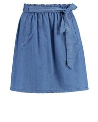 Esprit Denim Skirt Grey Blue