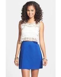 Frenchi Knit A Line Skirt Blue Mazarine Large