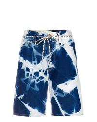 ARIES Argyle Denim Shorts